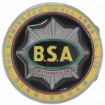BSA Motorcycle Gold Star Tank Badge Belt Buckle with display stand. Code LK5